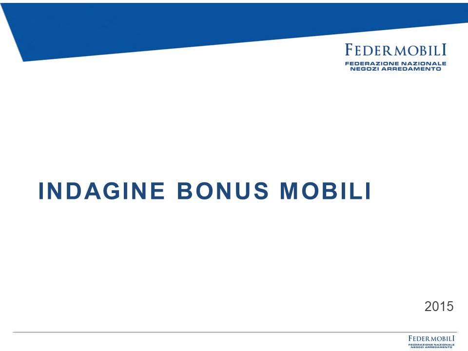indagine bonus mobili 2015